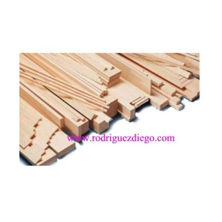 Madera de Balsa Liston Triangular 10x10, MI281021
