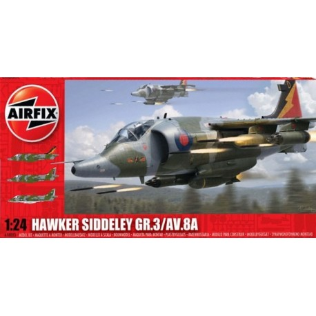 AIRFIX 1:24 HAWKER SIDDELEY HARRIER GR.3/AV.8A
